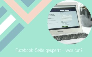 Facebook-Seite-gesperrt