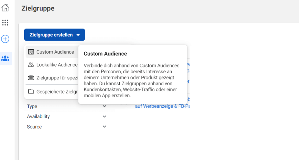 Zielgruppe-Custom-Audience