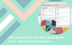 365 Content-Ideen für deine Social Media Posts, deinen Blog & Newsletter