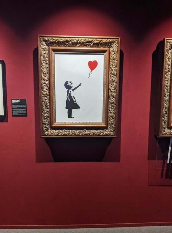 Banksy - Mädchen mit Herz