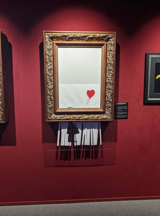 Banksy - Mädchen mit Herz kaputt